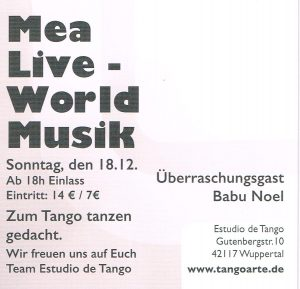 18.12.2016 MEA bei Tangoarte Wuppertal